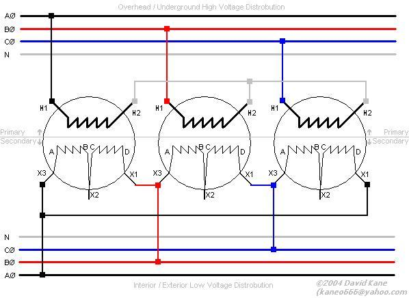 3ph_wye_delta 3 phase transformer connections delta to wye transformer wiring diagram at webbmarketing.co
